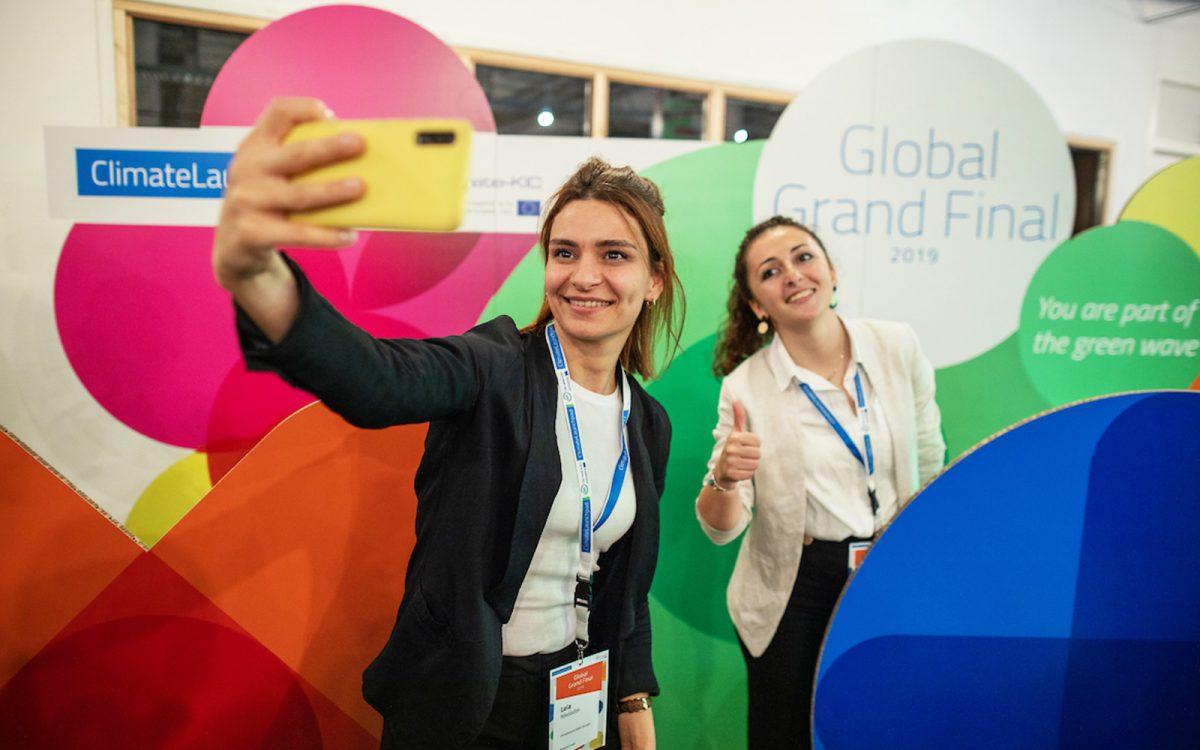 Event aankleding Climate Launchpad branding wereldwijd evenement
