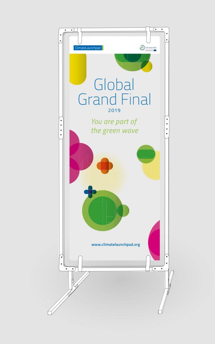 Banner ontwerp voor Climate Launchpad van duurzame materialen