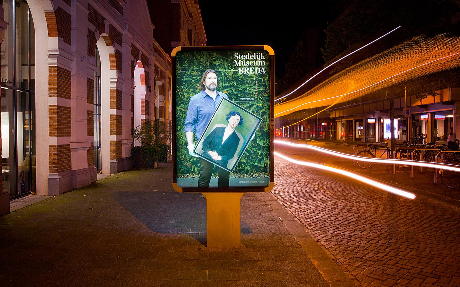 Reclameborden langs de weg bij het Stedelijk Museum Breda Sandwichborden ontwerpen