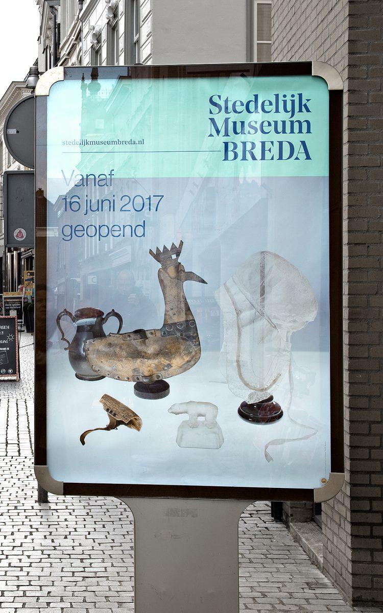 Reclameborden abri straat reclame Stedelijk Museum Breda Sandwichborden ontwerpen