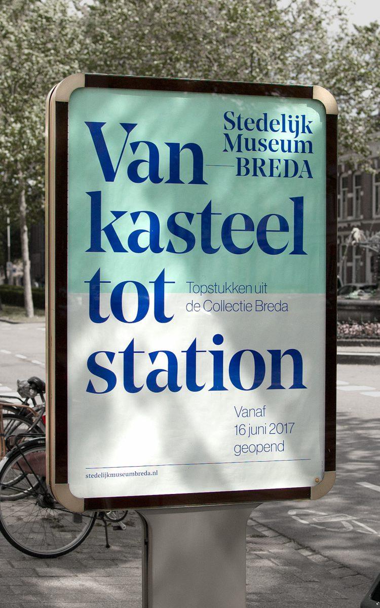 Reclameborden straat reclame Stedelijk Museum Breda Sandwichborden ontwerpen