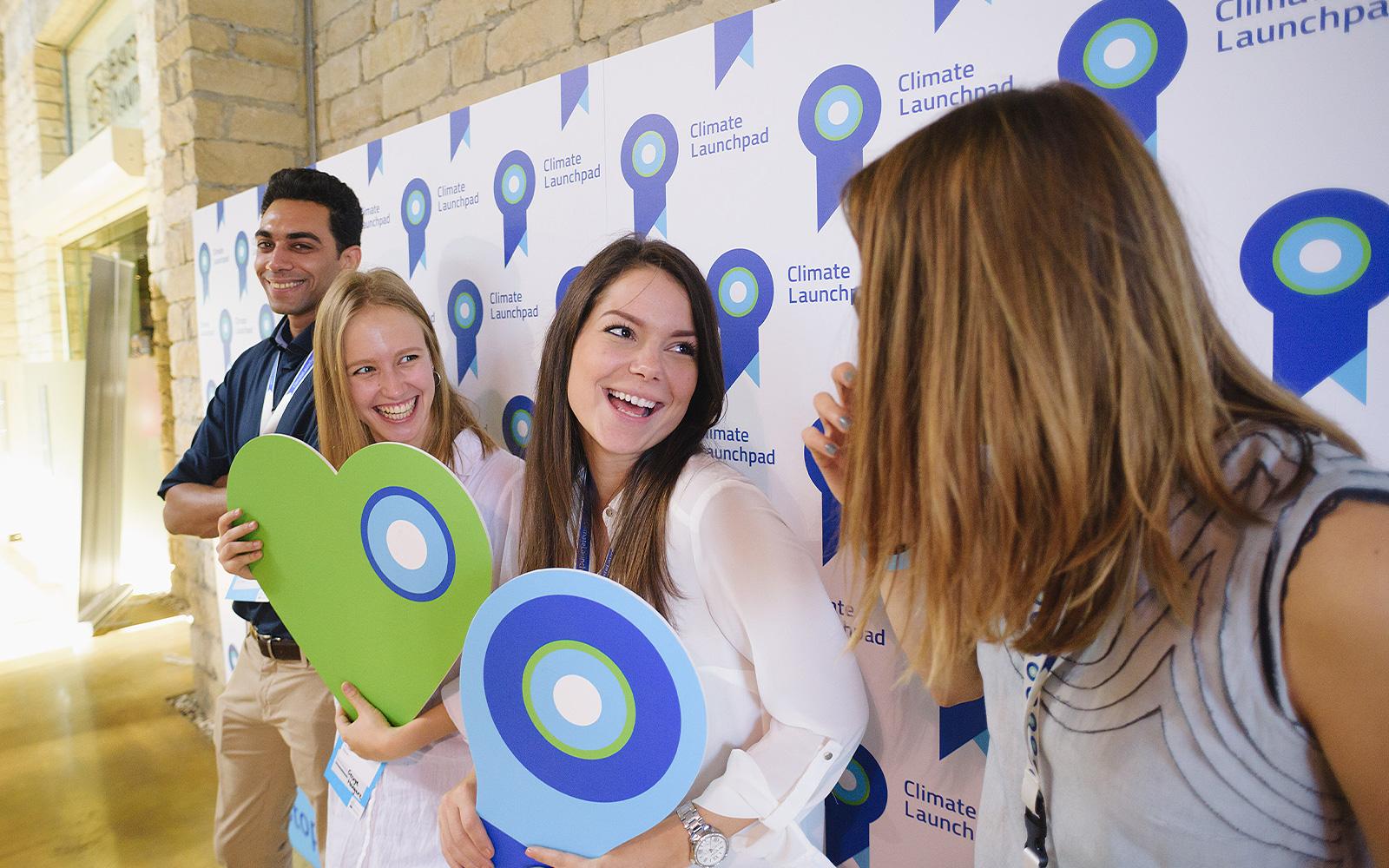 Selfie muur Climate Launchpad duurzame en praktische communicatie