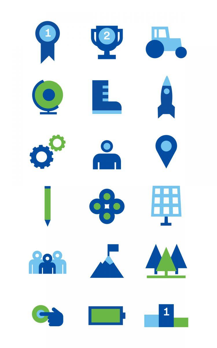 Duurzame en groene iconen Climate Launchpad