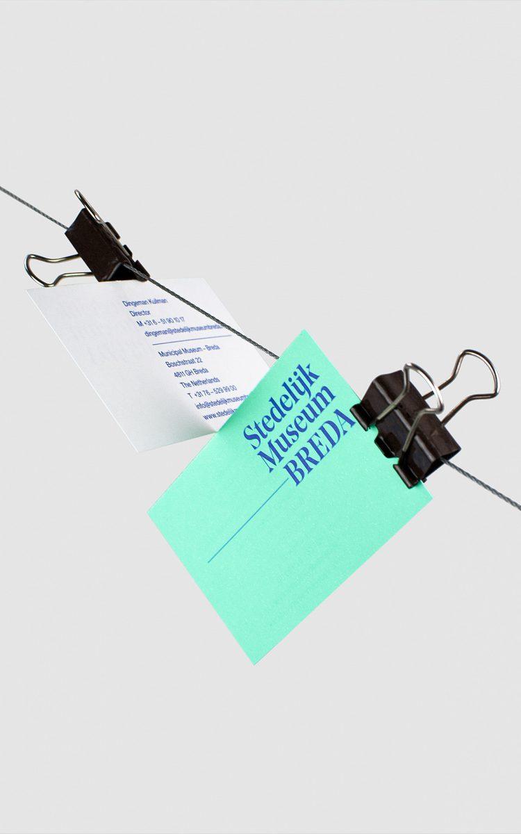 Visitekaartjes voor het Stedelijk Museum Breda trekpleister van Breda