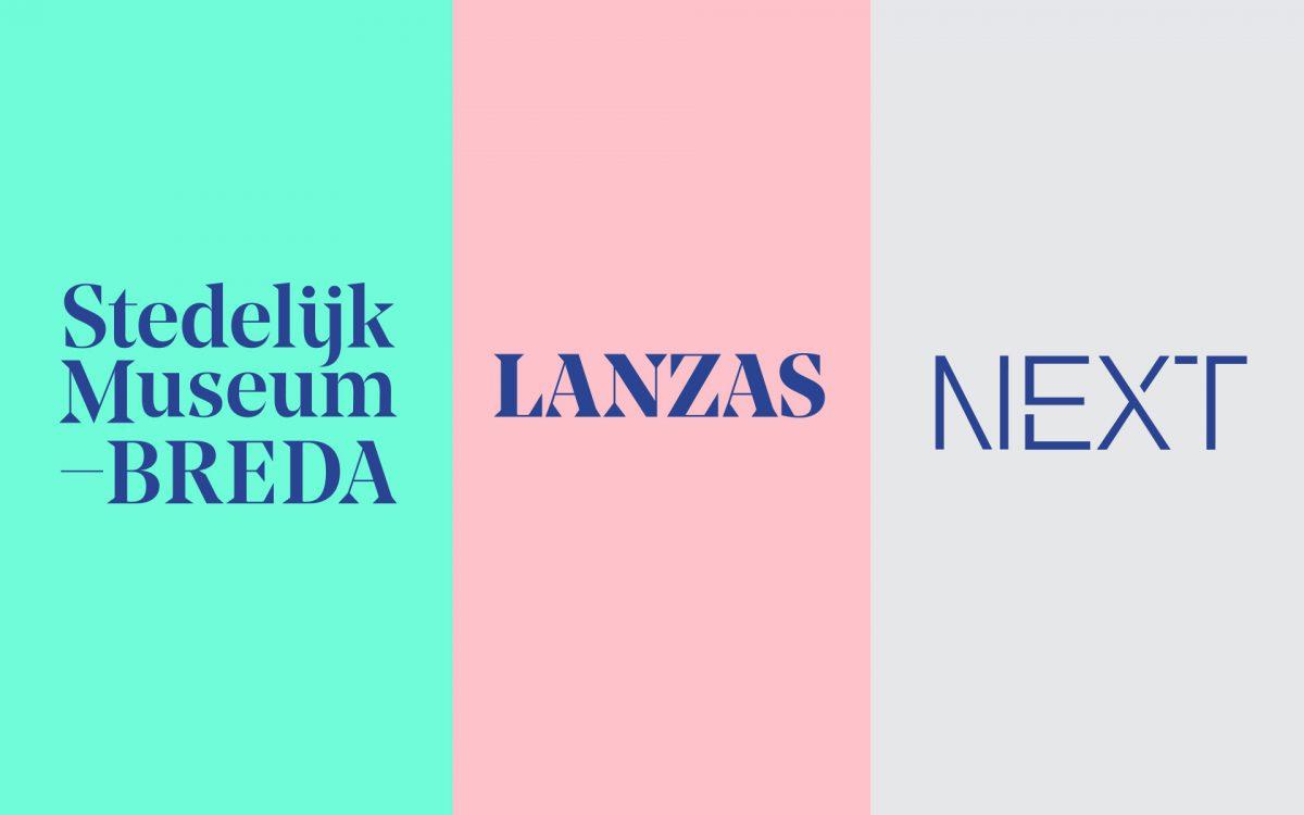 Frisse sub identities van de huisstijl Stedelijk Museum Breda Lanzas Next