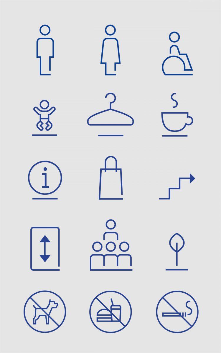 Iconenreeks ontwerpen voor Stedelijk Museum Breda museum pictogrammen