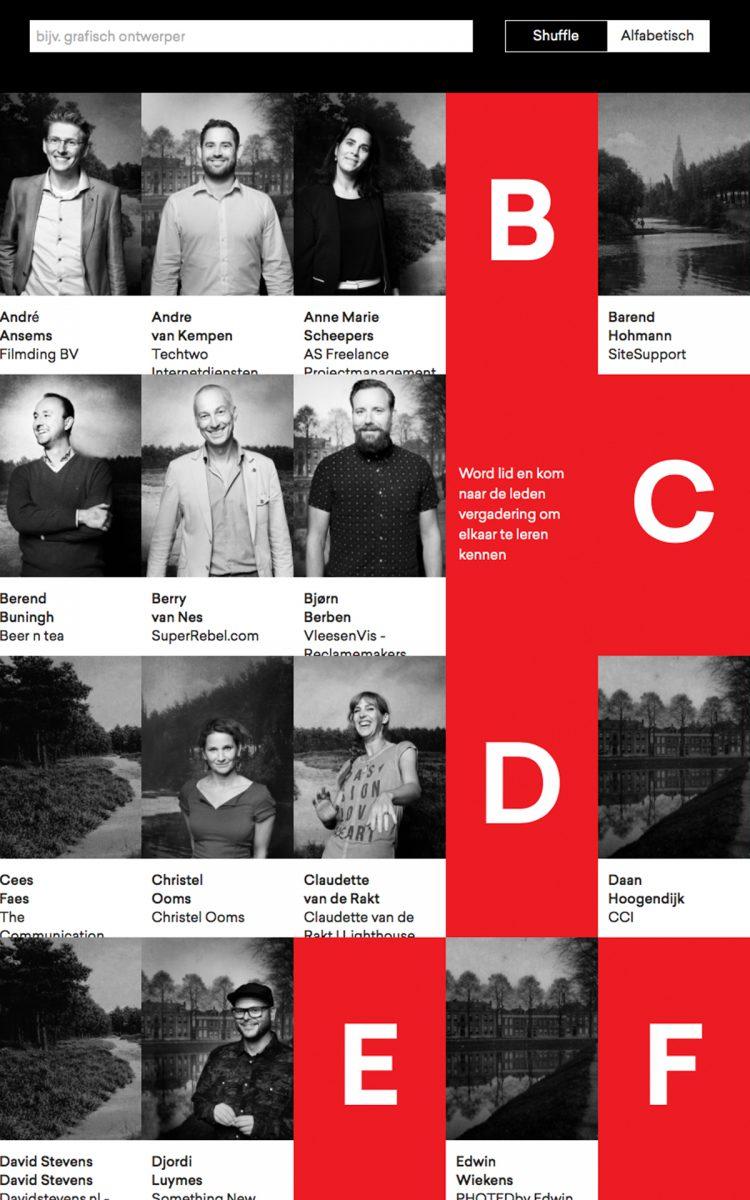 Ledenpagina op de website van City of imagineers Breda impact design