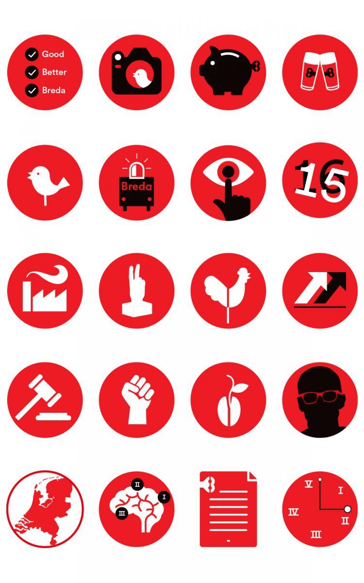 Illustraties City of imagineers Breda visuele taal beeldtaal ontwerpe