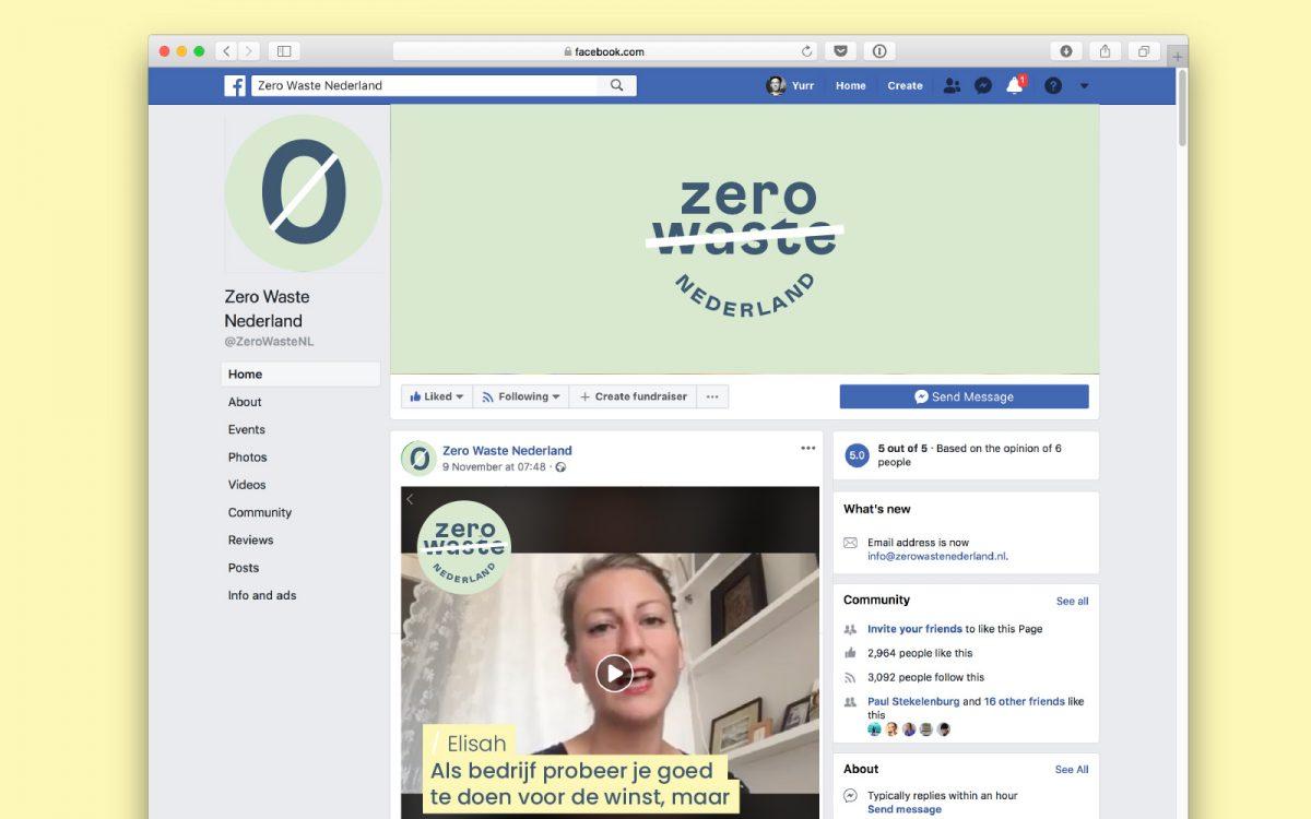 Facebook template voor Zero Waste Nederland online tools