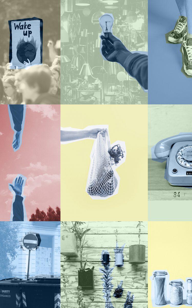 Beeldenreeks voor artikelen van Zero Waste Nederland geen vervuiling Illustraties