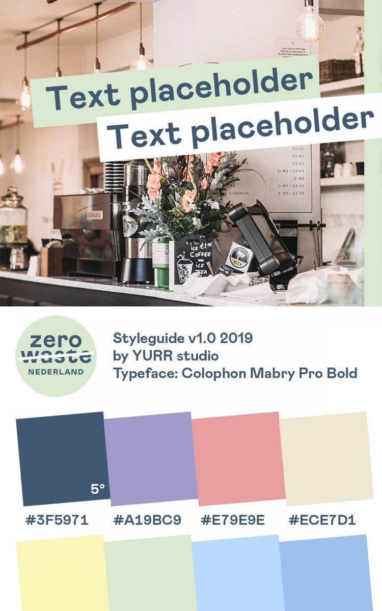 Templates voor de Social media van Zero Waste Nederland styleguide
