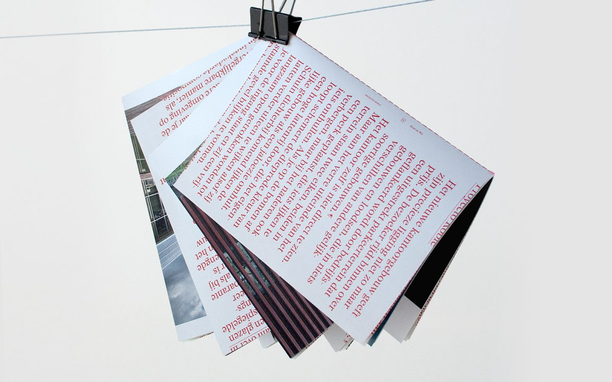 Katern in katern boek design Van Helvoirt Groenprojecten