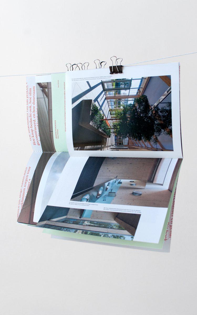 Prijswinnend boek ontwerp Van Helvoirt Groenprojecten verschillende pagina's