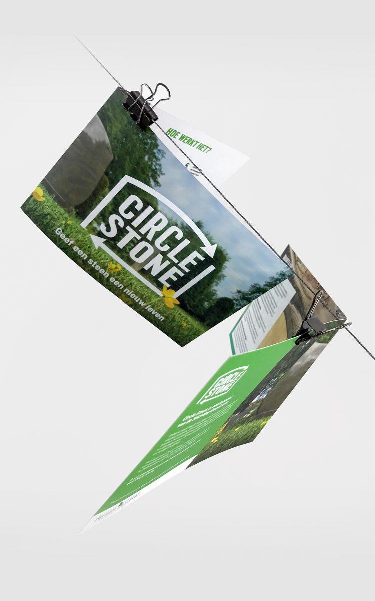Zuylen Uitvaartverzorger Green Leave Flyer recycle design